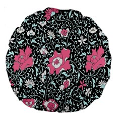 Oriental Style Floral Pattern Background Wallpaper Large 18  Premium Round Cushions by BangZart