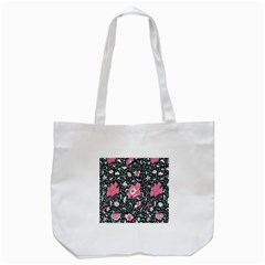 Oriental Style Floral Pattern Background Wallpaper Tote Bag (white) by BangZart