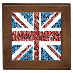 Fun And Unique Illustration Of The Uk Union Jack Flag Made Up Of Cartoon Ladybugs Framed Tiles by BangZart