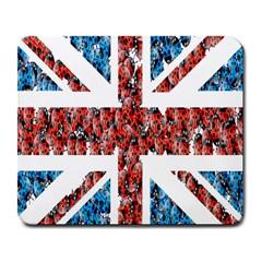 Fun And Unique Illustration Of The Uk Union Jack Flag Made Up Of Cartoon Ladybugs Large Mousepads by BangZart