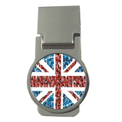 Fun And Unique Illustration Of The Uk Union Jack Flag Made Up Of Cartoon Ladybugs Money Clips (round)