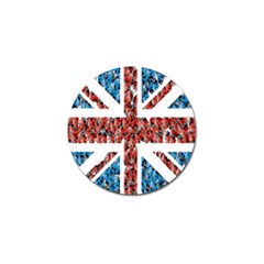 Fun And Unique Illustration Of The Uk Union Jack Flag Made Up Of Cartoon Ladybugs Golf Ball Marker (4 Pack) by BangZart