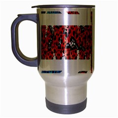 Fun And Unique Illustration Of The Uk Union Jack Flag Made Up Of Cartoon Ladybugs Travel Mug (silver Gray) by BangZart
