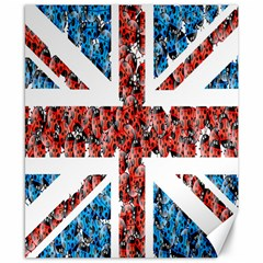 Fun And Unique Illustration Of The Uk Union Jack Flag Made Up Of Cartoon Ladybugs Canvas 8  X 10
