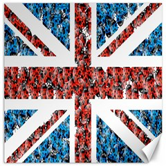 Fun And Unique Illustration Of The Uk Union Jack Flag Made Up Of Cartoon Ladybugs Canvas 16  X 16   by BangZart