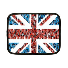 Fun And Unique Illustration Of The Uk Union Jack Flag Made Up Of Cartoon Ladybugs Netbook Case (small)