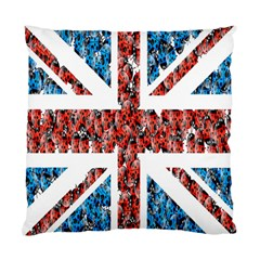 Fun And Unique Illustration Of The Uk Union Jack Flag Made Up Of Cartoon Ladybugs Standard Cushion Case (two Sides) by BangZart