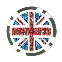 Fun And Unique Illustration Of The Uk Union Jack Flag Made Up Of Cartoon Ladybugs Poker Chip Card Guard (10 Pack)