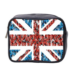 Fun And Unique Illustration Of The Uk Union Jack Flag Made Up Of Cartoon Ladybugs Mini Toiletries Bag 2 Side by BangZart