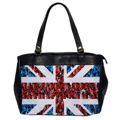 Fun And Unique Illustration Of The Uk Union Jack Flag Made Up Of Cartoon Ladybugs Office Handbags by BangZart