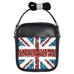 Fun And Unique Illustration Of The Uk Union Jack Flag Made Up Of Cartoon Ladybugs Girls Sling Bags
