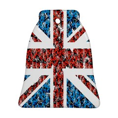 Fun And Unique Illustration Of The Uk Union Jack Flag Made Up Of Cartoon Ladybugs Bell Ornament (two Sides)