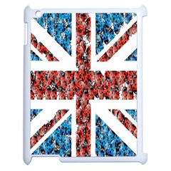 Fun And Unique Illustration Of The Uk Union Jack Flag Made Up Of Cartoon Ladybugs Apple Ipad 2 Case (white) by BangZart