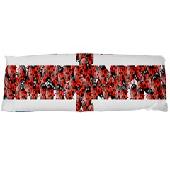 Fun And Unique Illustration Of The Uk Union Jack Flag Made Up Of Cartoon Ladybugs Body Pillow Case Dakimakura (two Sides) by BangZart