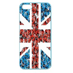 Fun And Unique Illustration Of The Uk Union Jack Flag Made Up Of Cartoon Ladybugs Apple Seamless Iphone 5 Case (color) by BangZart