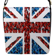 Fun And Unique Illustration Of The Uk Union Jack Flag Made Up Of Cartoon Ladybugs Flap Messenger Bag (s) by BangZart