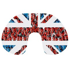 Fun And Unique Illustration Of The Uk Union Jack Flag Made Up Of Cartoon Ladybugs Travel Neck Pillows