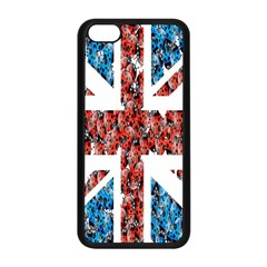 Fun And Unique Illustration Of The Uk Union Jack Flag Made Up Of Cartoon Ladybugs Apple Iphone 5c Seamless Case (black) by BangZart