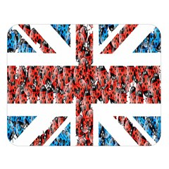 Fun And Unique Illustration Of The Uk Union Jack Flag Made Up Of Cartoon Ladybugs Double Sided Flano Blanket (large)  by BangZart