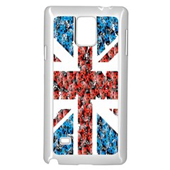 Fun And Unique Illustration Of The Uk Union Jack Flag Made Up Of Cartoon Ladybugs Samsung Galaxy Note 4 Case (white)
