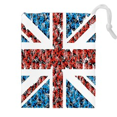 Fun And Unique Illustration Of The Uk Union Jack Flag Made Up Of Cartoon Ladybugs Drawstring Pouches (xxl) by BangZart