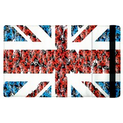Fun And Unique Illustration Of The Uk Union Jack Flag Made Up Of Cartoon Ladybugs Apple Ipad Pro 12 9   Flip Case