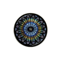 Stained Glass Rose Window In France s Strasbourg Cathedral Hat Clip Ball Marker (4 Pack) by BangZart