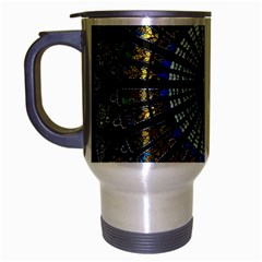 Stained Glass Rose Window In France s Strasbourg Cathedral Travel Mug (silver Gray) by BangZart