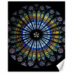 Stained Glass Rose Window In France s Strasbourg Cathedral Canvas 11  X 14