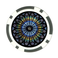 Stained Glass Rose Window In France s Strasbourg Cathedral Poker Chip Card Guard