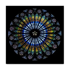 Stained Glass Rose Window In France s Strasbourg Cathedral Face Towel
