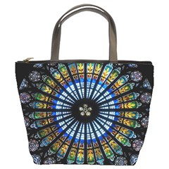 Stained Glass Rose Window In France s Strasbourg Cathedral Bucket Bags
