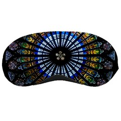 Stained Glass Rose Window In France s Strasbourg Cathedral Sleeping Masks by BangZart