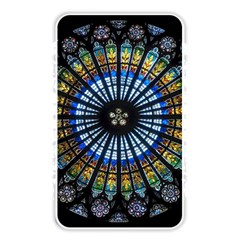 Stained Glass Rose Window In France s Strasbourg Cathedral Memory Card Reader