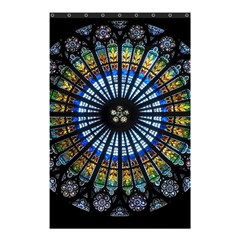 Stained Glass Rose Window In France s Strasbourg Cathedral Shower Curtain 48  X 72  (small)