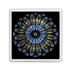 Stained Glass Rose Window In France s Strasbourg Cathedral Memory Card Reader (square)  by BangZart