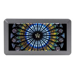 Stained Glass Rose Window In France s Strasbourg Cathedral Memory Card Reader (mini)