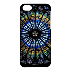 Stained Glass Rose Window In France s Strasbourg Cathedral Apple Iphone 5c Hardshell Case by BangZart