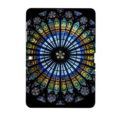 Stained Glass Rose Window In France s Strasbourg Cathedral Samsung Galaxy Tab 2 (10 1 ) P5100 Hardshell Case  by BangZart