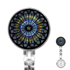 Stained Glass Rose Window In France s Strasbourg Cathedral Stainless Steel Nurses Watch