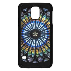 Stained Glass Rose Window In France s Strasbourg Cathedral Samsung Galaxy S5 Case (black)