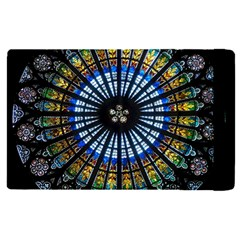 Stained Glass Rose Window In France s Strasbourg Cathedral Apple Ipad Pro 12 9   Flip Case by BangZart