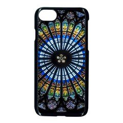 Stained Glass Rose Window In France s Strasbourg Cathedral Apple Iphone 7 Seamless Case (black)