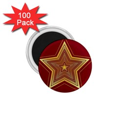 Christmas Star Seamless Pattern 1 75  Magnets (100 Pack)