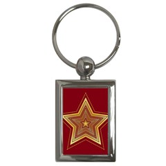 Christmas Star Seamless Pattern Key Chains (rectangle)  by BangZart