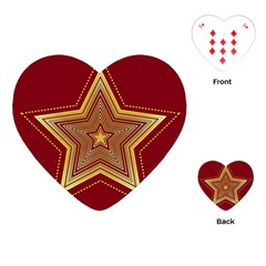 Christmas Star Seamless Pattern Playing Cards (heart)
