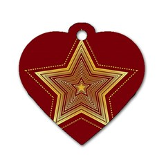 Christmas Star Seamless Pattern Dog Tag Heart (one Side) by BangZart