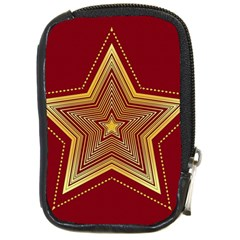 Christmas Star Seamless Pattern Compact Camera Cases