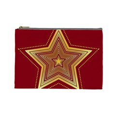 Christmas Star Seamless Pattern Cosmetic Bag (large)