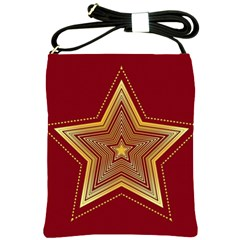 Christmas Star Seamless Pattern Shoulder Sling Bags
